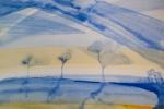 Tři stromy, akvarel, A4, v soukromém vlastnictví