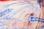 Dva snící, akvarel, 69,5 x 49,2 cm