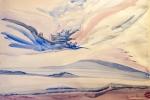 Drak, akvarel, 69,5 x 49,2 cm