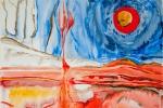 Plamen, akvarel, 79,5 x 48,7 cm, v soukromém vlastnictví