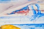 Parašutisté, akvarel, 48,7 x 79,5 cm