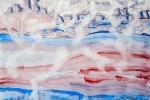 Archaická krajina v mlhách, akvarel, 79,5 x 48,7 cm