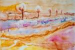 Zlatá horečka, akvarel, 79,5 x 48,7 cm, v soukromém vlastnictví