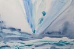 Modrý kraj, akvarel, inkoust, A2