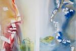 Ze života našich krajin - Most, akvarel, 50 x 64,5 cm