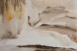Iguaçu před příchodem lidí a bouřky, akvarel, 50 x 64,5 cm, neprodejné