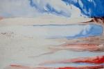 Hlavy v oblacích, akvarel, káva, A2