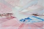 V mlhách, akvarel, 70 x 49,5 cm